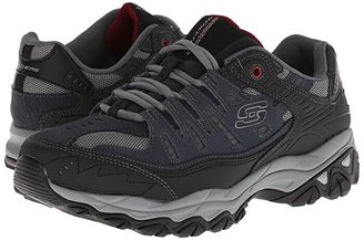 Skechers Afterburn M. Fit (Black) Men's Lace up casual Shoes