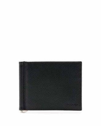 Prada Saffiano Clip Wallet, Black $370 thestylecure.com