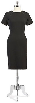 Vince Camuto A-Line Dress With Tonal Seams