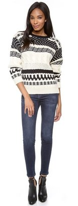 Yigal Azrouel Cut25 by Arrow Cable Knit Sweater