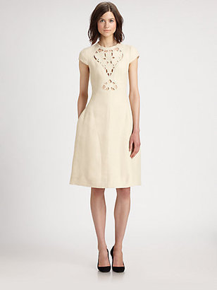 Carven Embroidered Cutout Dress