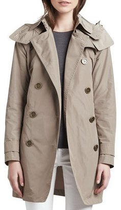"Burberry ""Balmoral"" Trenchcoat with Removable Hood, Sisal $795 thestylecure.com"