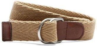 Brooks Brothers Solid Webbing Belt with Embossed Golden Fleece®