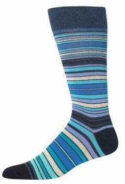 Hot Sox Men's Novelty Variegated Striped Crew Socks