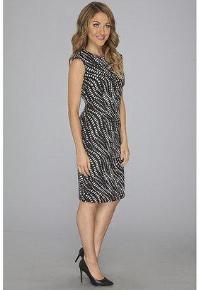 Anne Klein Abstract Zipper Print Jacquard Sheath Dress
