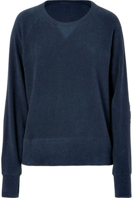 Lounge Lover Indigo Sweater with Elbow Patches