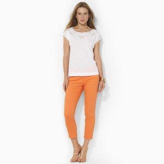 Lauren Ralph Lauren Ralph Slim-Fit Cropped Straight Jean