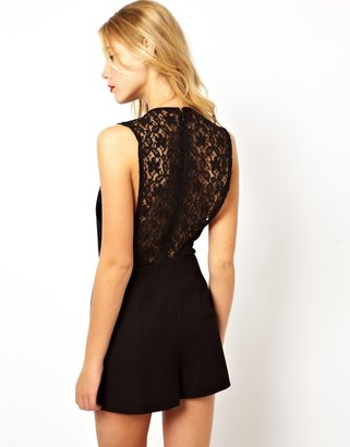 Asos Playsuit With Lace Back