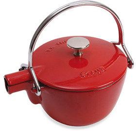 Staub Round Cast Iron 1-Quart Teapot/Kettle in Cherry
