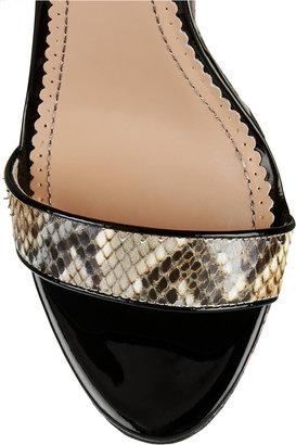 Jean-Michel Cazabat Jean Michel Cazabat Tani snake-effect leather sandals