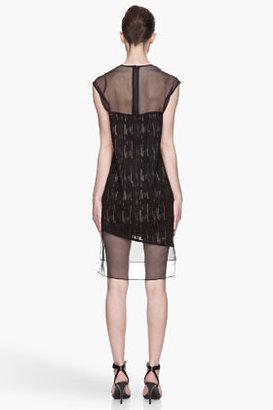 Helmut Lang Black silk Thread Stitch Dress