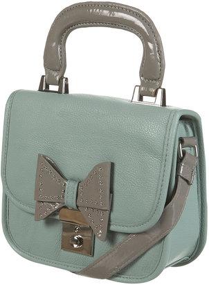 Topshop Mint Lady Stud Bow Bag