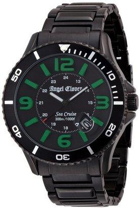 Angel Clover (エンジェル クローバー) - [エンジェルクローバー]Angel Clover 腕時計 シークルーズ ブラック/グリーン文字盤 ステンレス(BKPVD)ケース SC42BGR メンズ
