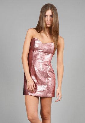 Naven Sequin Sweetheart Dress in Pink Sequin -