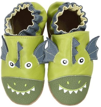 Robeez Baby Dragon Soft Soles (Infant/Toddler) (Lime/China Blue) - Footwear