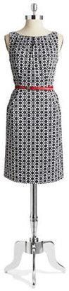 Nine West Patterned Dress with Belt
