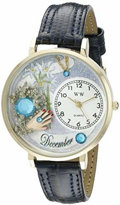 Whimsical Watches Unisex G0910012 Imitation Birthstone: December Navy Blue Leather Watch