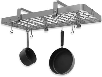 Enclume Premier Collection Low Ceiling Stainless Steel Rectangle Pot Rack with Grid