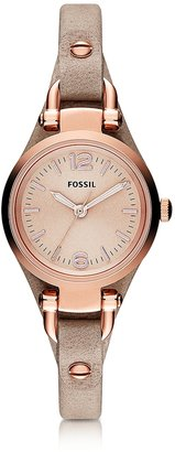 Fossil Georgia Mini Three Hand Sand Leather Women's Watch $155 thestylecure.com