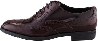 Tod's Tods Lace-Up Leather Oxford, Bordeaux