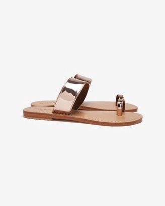 Mystique Mirror Metallic Toe Ring Sandal