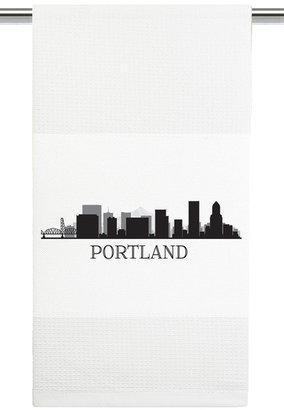 Mariasch Studios Portland Skyline Kitchen Towel