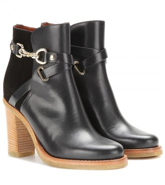 Mulberry Dorset Summer leather and suede ankle boots