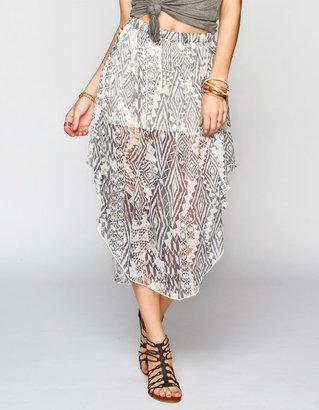 Billabong Designer's Closet Starting Out Hi Low Maxi Skirt