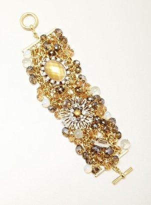 Stein & Blye Wide Bead Cluster Bracelet