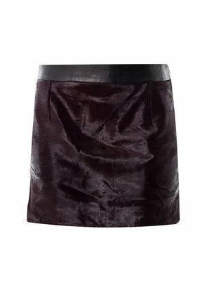 Alexander Wang Pony hair mini skirt