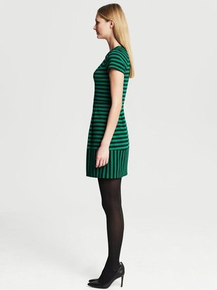 Banana Republic Mixed Stripe Fit-and-Flare Dress