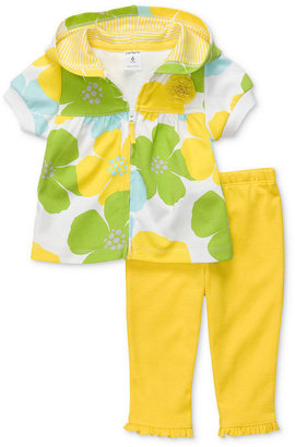 Carter's Baby Set, Baby Girls Floral Jacket and Pants Set