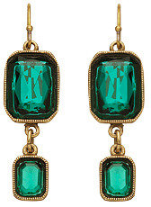 Ben-Amun Ben Amun Green Double Square Drop Earrings