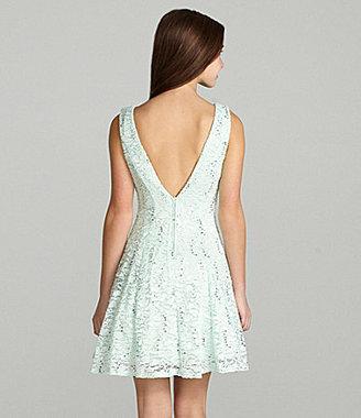 B. Darlin Lace V-Back Dress