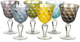 Pols Potten Wine Glass Blocks - Multicoloured - Set of 6
