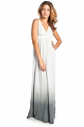 Gypsy 05 Organic Ombre Maxi Dress in Charcoal