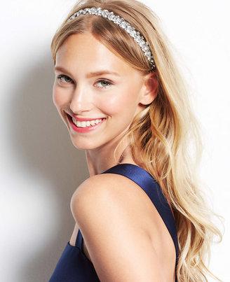 Ann Taylor Leaf Stone Stretch Headband