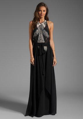 BCBGMAXAZRIA Runway Side Slit Maxi Dress