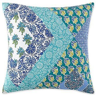 "JCPenney Blue Kerala 16"" Square Decorative Pillow"