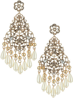 Topshop Teardrop stone drop earrings