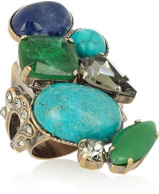 Emilio Pucci Multi-stone brass ring