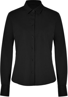 Jil Sander Navy Cotton Blouse in Black