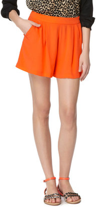 Rebecca Taylor Pleated Silk Shorts