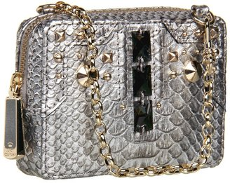 Juicy Couture Deco Phone Wristlet (Gunmetal Snake) - Bags and Luggage