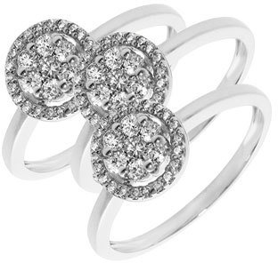 Nordstrom Women's Bony Levy Flower Diamond Stackable Ring Exclusive)