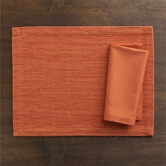 Crate & Barrel Grasscloth Tiger Lily Placemat.