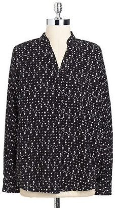 Vince Camuto Printed Tunic Top