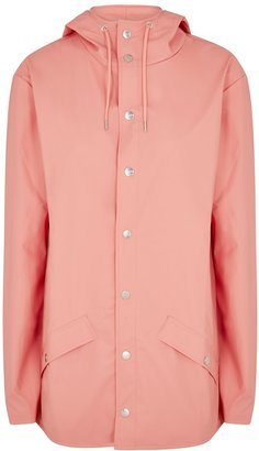 Rains Coral Rubberised Raincoat
