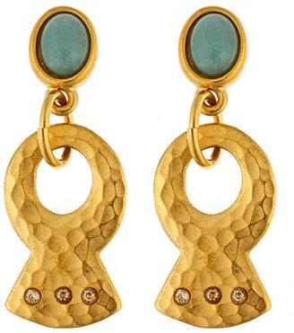 Evelyn Knight Gold Hammered Fan Earrings