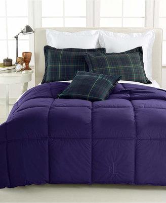 Lauren Ralph Lauren Color Down Alternative King Comforter, 100% Cotton Cover